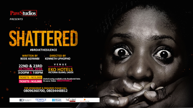 "PAWStudios brings ""Shattered"" back to Eko Hotel in October 2016"