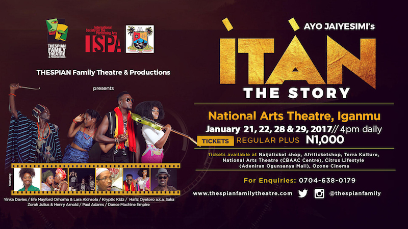 Ayo Jaiyesimi's ITAN at National Arts Theatre