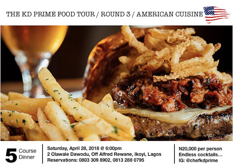 KD Prime Food Tour III – American Cuisine Edition