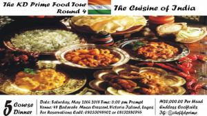 KD Prime Food Tour IV: Cuisine of India
