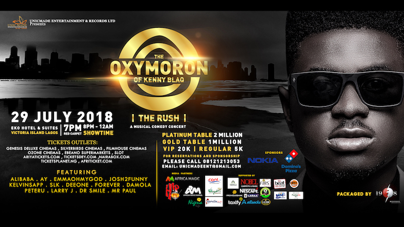 The Oxymoron of Kenny Blaq 2018 @Eko Hotel