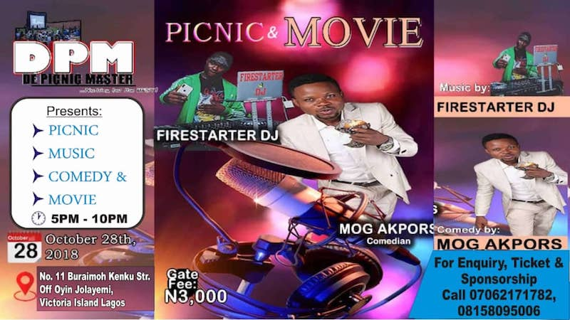 DPM's Picnic under the stars ft MOG Akpors & Firestarter DJ