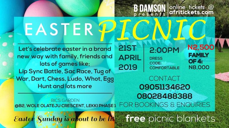 B'Damson's Easter Picnic @BICS Gardens