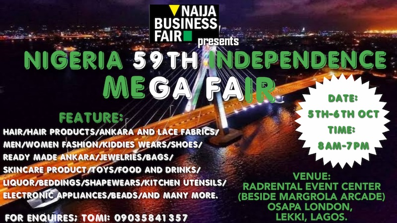 59th Independence Mega Fair @Radrental Event Centre