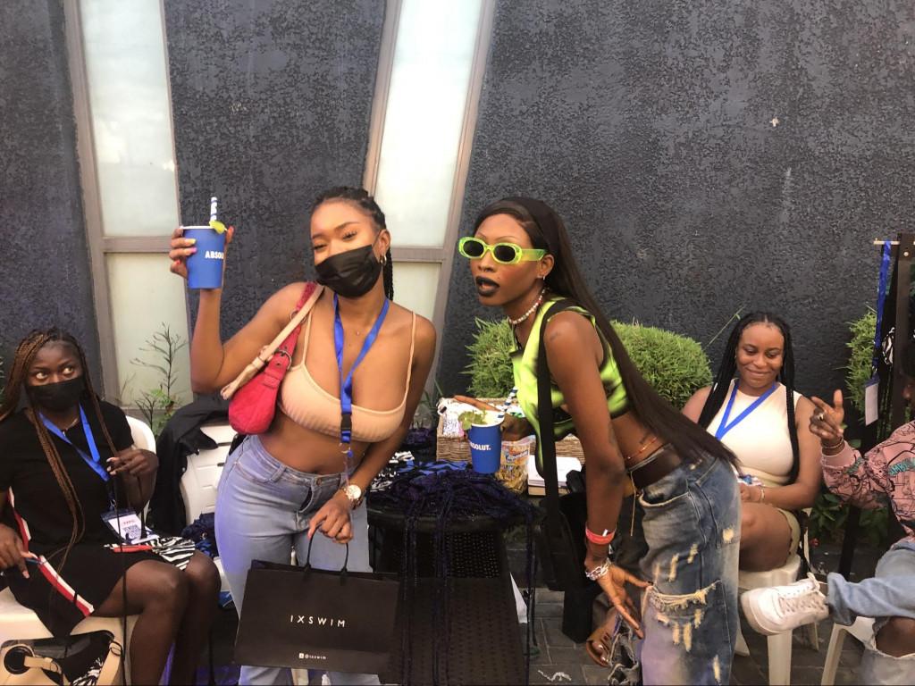 Naomi Offor, Ixswim CEO (left) with Ashley Okoli one of her brand models.