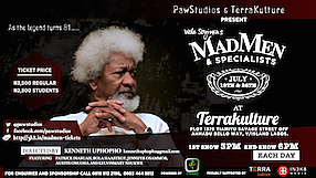 Madmen and Specialists stage play at TerraKulture
